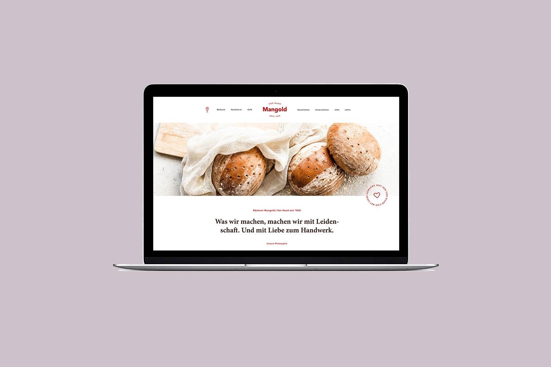 Digitales Marketing – Website der Bäckerei Mangold