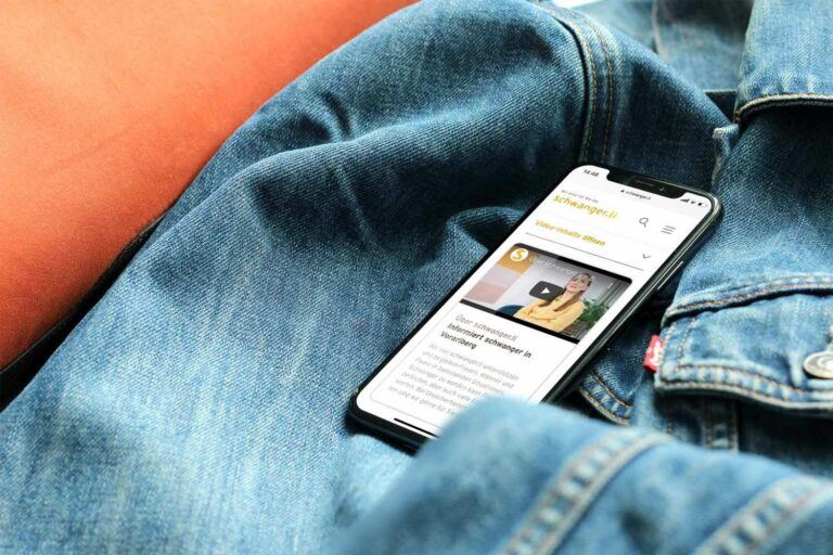Digitales Marketing – Website von schwanger.li –Mobile Optimerung der Website